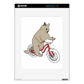 Cat On Youth Bike iPad Skins