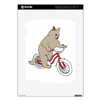 Cat On Youth Bike Skins For iPad 3