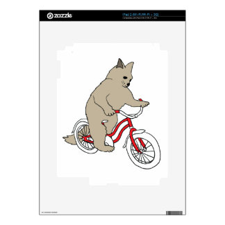 Cat On Youth Bike Skins For The iPad 2