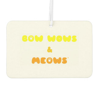 Cat or dog? Bow Wows & Meows FUNNY cartoon! Air Freshener