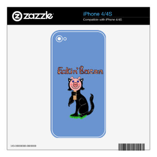 Cat or Pig? Fakin' Bacon Skin For iPhone 4