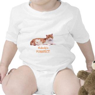 Cat Orange & White Infant Creeper