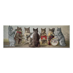 Cat Orchestra Poster at Zazzle