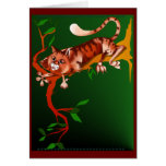 Cat Out On A Limb Card