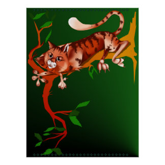 Cat Out On A Limb Poster