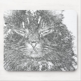 Cat outline mouse pad