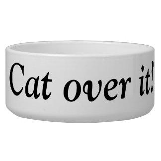 Cat over it! pet food bowls