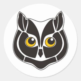Cat_Owl Classic Round Sticker