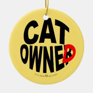 Cat Owner... er, Owned Ceramic Ornament