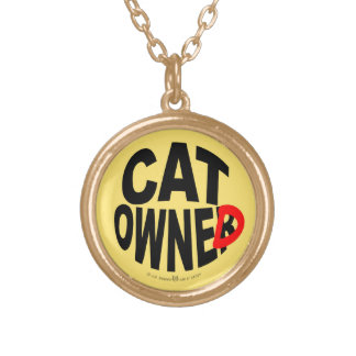 Cat Owner... er, Owned Gold Plated Necklace