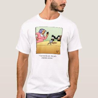 Cat Owner Humor Tee Shirt By Bill Abbott