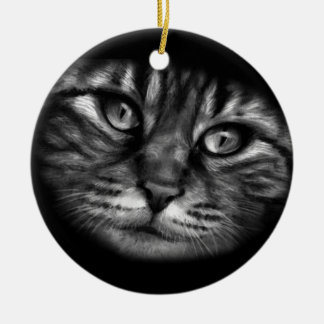 Cat Painting Ceramic Ornament