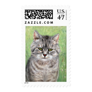 Cat Painting Postage
