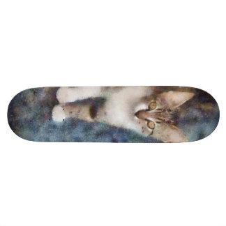 Cat painting custom skateboard