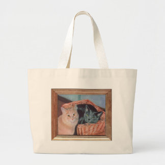 Cat Painting Tote Bags