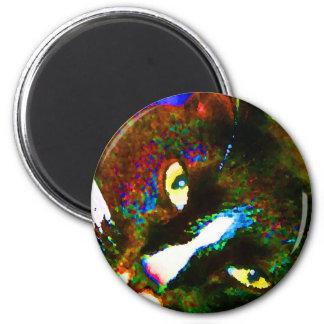 cat painting tuxedo colorful kitty animal design fridge magnets