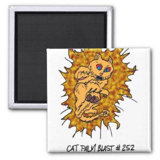 Cat Palm Blast!! Refrigerator Magnet