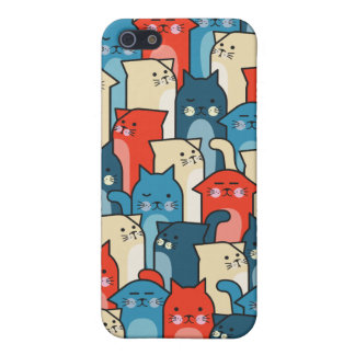 Cat Pals - Multicolored iPhone SE/5/5s Cover