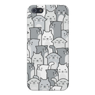 Cat Pals - White iPhone SE/5/5s Cover