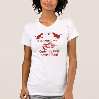 Cat Parent Ladies Petite T-Shirt