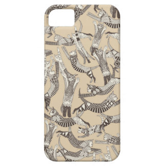 cat party beige natural iPhone SE/5/5s case
