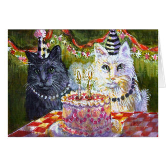 Cat Party Greeting Card