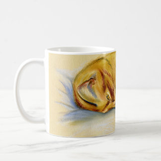 Cat Pastel - Orange Tabby Relaxed Pose Coffee Mug