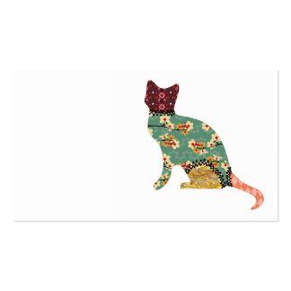 Cat Patchwork Pet Business Cards