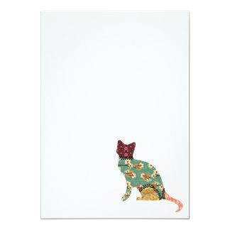 Cat Patchwork Pet Invitations