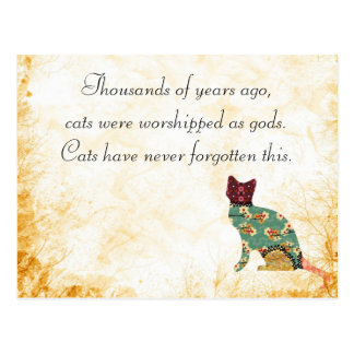 Cat Patchwork Pet Postcard