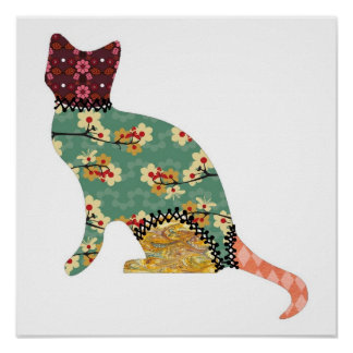 Cat Patchwork Pet Print