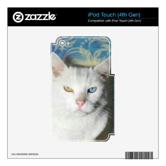 Cat - Patrick the White Cat iPod Touch 4G Skins