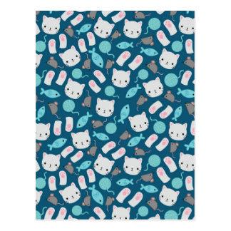 Cat pattern 1 postcard