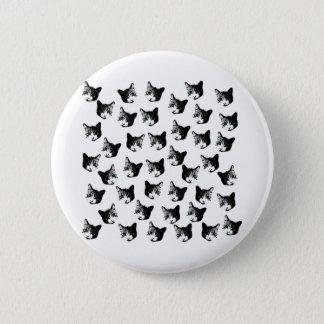 Cat pattern button