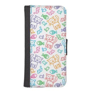 cat pattern iPhone SE/5/5s wallet case