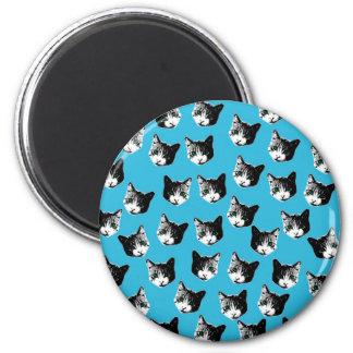 Cat pattern magnet