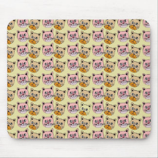 cat pattern, meow mouse pad