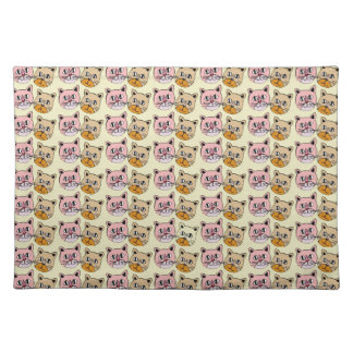 cat pattern, meow placemat