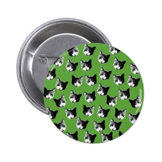 Cat pattern pinback button