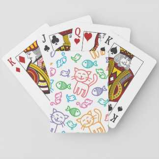 cat pattern playing cards