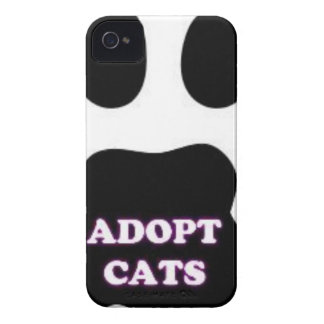 Cat Paw Adopt Cats with Cute Lettering FUN! iPhone 4 Cover