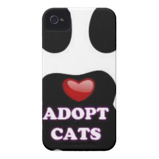 Cat Paw Adopt Cats with Cute Red Heart Kittahz iPhone 4 Case