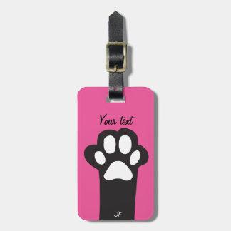 Cat paw bag tag