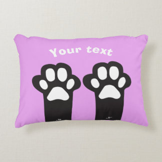Cat paw decorative pillow