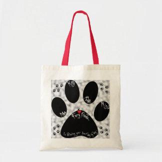 Cat Paw Furry Friends Canvas Bag
