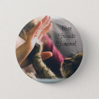 Cat Paw High-five Pinback Button
