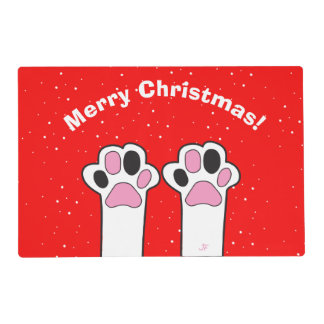 Cat paw placemat