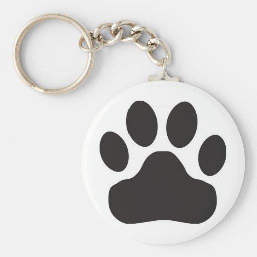 Cat Paw Print | Dog Paw Print Basic Round Button Keychain