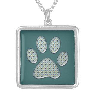 cat paw print custom necklace