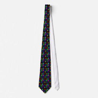 cat paw print necktie on black
